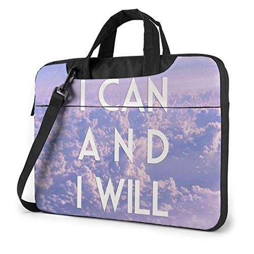 Laptop Shoulder Bag, I Can I Will Business Briefcase Protective Bag Cover
