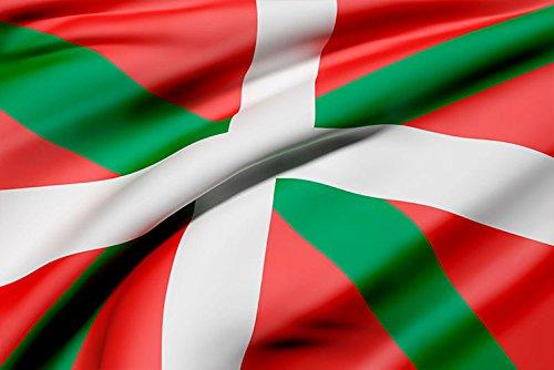Oedim Bandera de La Comunidad del Pais Vasco 85x150cm | Reforzada y con Pespuntes| Bandera de La Comunidad del Pais Vasco con 2 Ojales Metálicos