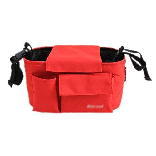 Hot vente bébé Organiseur pour poussette Poussette Sac de rangement 30 x 15 x 16 cm Rouge