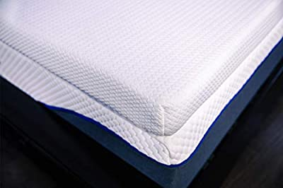 """DynastyMattress New & Luxurious Mattress Toppers 3.5"""" Inches Thick Cooling Gel Memory Foam, and Soft (Calking, Soft)"""