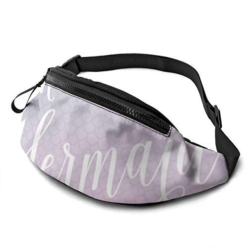 XCNGG Bolso de cintura corriente bolso de cintura de ocio bolso de cintura bolso de cintura de moda I'm Really A Mermaid Belt Bag 13.7 X 5.5 inch Unisex Running Waist Packs Fashion Casual Waist Bag, C