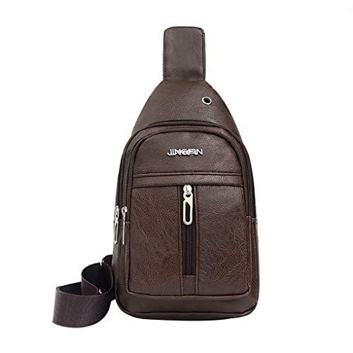 Brusttasche für Herren/Skxinn Umhängetasche Schultertasche Cross Bag Schleuder Tasche Sling Rucksack Multipurpose Daypack,Outdoor Sport Running Casual Umhängetasche(M-1)