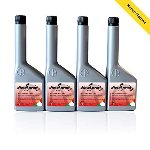 DieselSprint 500 ML (4 Botellas de 125 ml) Plus aditivo Limpiador de inyectores para Motores Diesel
