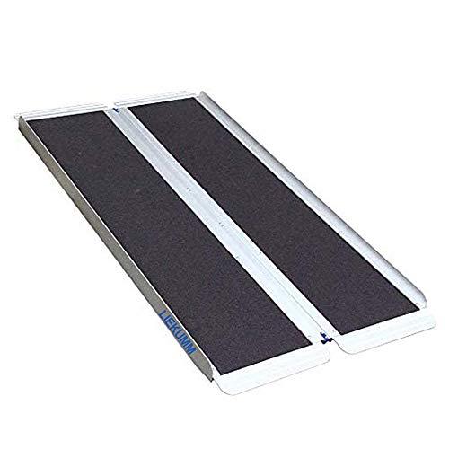 Liekumm Rampa de umbral antideslizante plegable portátil de aluminio para...