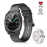 EUMI Smartwatch Reloj Inteligente IP67 con Pulsómetro Presión Arterial, Duración Batería 10-15 días, Monitor de Sueño Podómetro Contador de Caloría, Pulsera Actividad Inteligente para Hombre Mujer