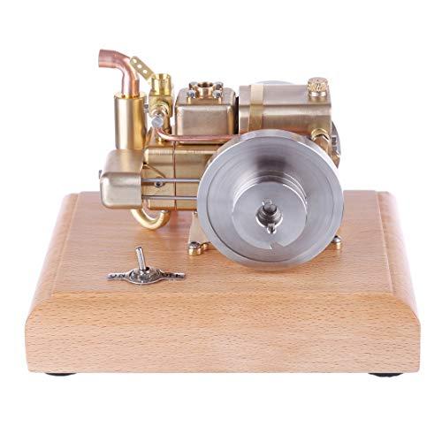 FADF 2.6cc Viertakt Benzin Motor Bausatz Wassergekühlter Motor Modell Bausatz Mini Motor Motorbaukasten Konstruktionsspielzeug