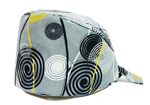Bonnet chirurgical réglable avec bandeau de transpiration pour queue de cheval chimio Casquette unisexe en coton chirurgical (#100)