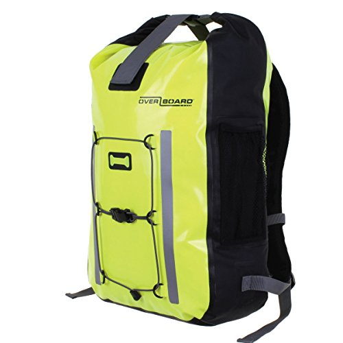 Overboard Unisex's Pro High Visibility Waterproof Backpack, Hi-Vis Yellow, 30 Litres