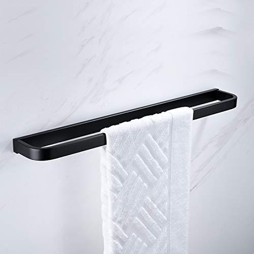Melairy SUS304 Edelstahl-Handtuchring schwarze Oberfläche Wandmontage Badezimmer Handtuchhalter Stange für Toilette und Badezimmer