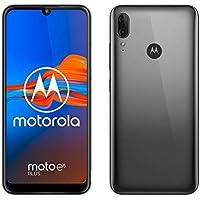"Motorola Moto E6 Plus (pantalla 6,1"" max vision, doble cámara de 13 MP, 64GB/4 GB, Android 9.0, Dual SIM) Gris Gunmetal + Funda"