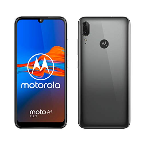 moto e6 plus Dual-SIM Smartphone (6,1-Zoll-Max Vision-HD+-Display, 13-MP-Dual-Kamera, 32 GB/2 GB, Android 9) Silbergrau