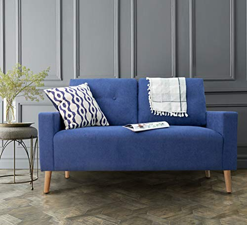 Homall Tufted 2 Seater Sofa Love Seats, Blue
