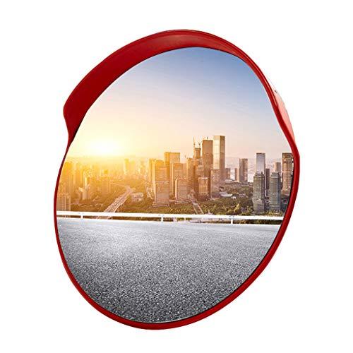 GXFC Convex verkeersspiegel, voor buiten smalle wegen, straathoeken en opritten veiligheid of gebouwen blinde vlekken, ronde paal Mount w/verstelbare beugel