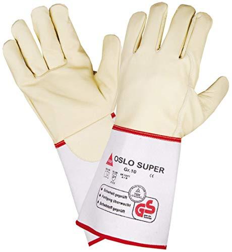 Hase Schweißer-Handschuhe Oslo-SUPER - Rindnabenleder - TÜV GS - Gr. 10