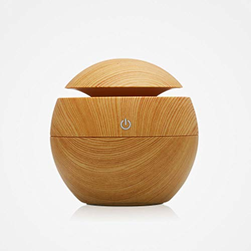 PRWJH Wood Grain Ultrasonic Aroma Humidifier, USB Air Diffuser Purifier Atomizer Diffuser, Aroma Mist Maker Aroma Diffuser, for Home, Bedroom