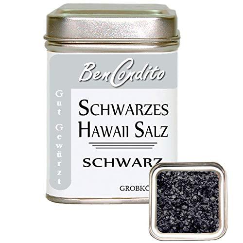 BenCondito - Schwarzes Hawaii Salz - Black Lava Salz mit Aktivkohle 130 gr Dose