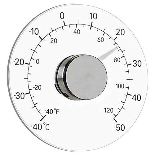 ZHITING Thermomètre de fenêtre extérieure bâton sur Compteur de température de fenêtre Circulaire pour Voiture extérieure