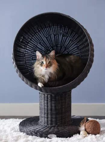 "Mix.Home Kitty Ball Bed in Espresso, 28"" H. Best Choice for Your Pets. Kitty Posts. Cat's Stands. Best Cat Bed & Trees & Condos. Pet's Playground."