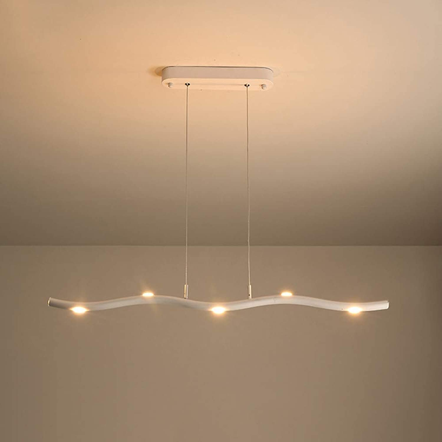 Perfect Home LED Chandelier Ceiling Light Not Dimmable Flush Fit, Modern Wave Large Kitchen Hallway Lamp Fixture, Nordic Minimalist White Acrylic for Living Room,3000K Durable