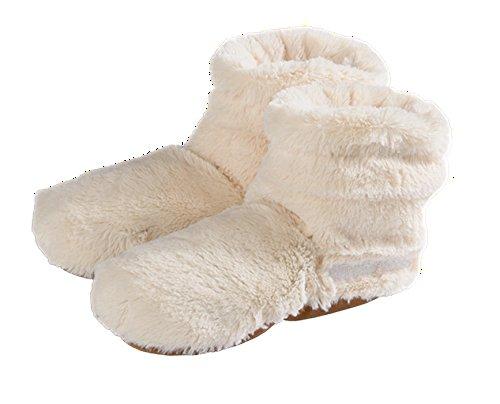 Unbekannt Slippies Boots Plush Beige, OneSize (37-42) Wärmeschuhe Mikrowellenschuhe