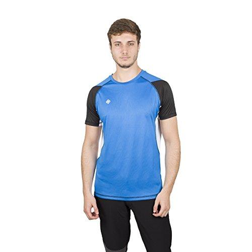 IZAS MORKIL Chemise à Manches Courtes Homme, Bleu Royal/Noir/Blanc, FR : 2XL (Taille Fabricant : XXL)