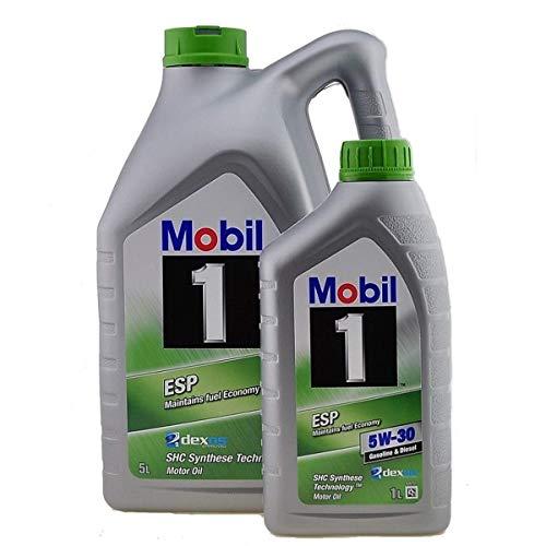 Motorschmieröl - Mobil 1 ™ ESP 5W-30 Dexos 2, 6 Liter (5 Liter + 1 x 1 Liter)