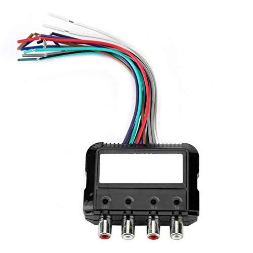 Longzhou Convertidor de Audio para automóvil Subwoofer estéreo de 4 Canales de Alto a bajo con Cable de Control de Amplificador de Potencia