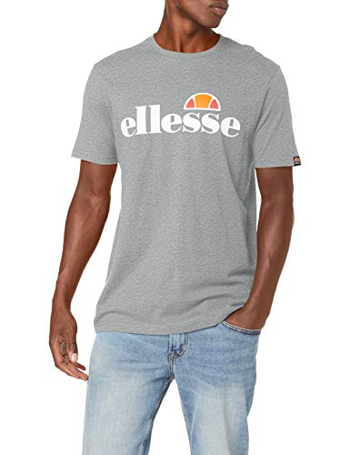 ellesse Prado Herren-T-Shirt, kurzärmelig M grau