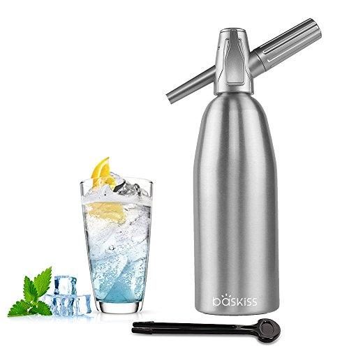 Baskiss Soda Siphon Maker, 1 Liter, Making Carbonated Soda Sparking Water for Juice Drinks Cocktail
