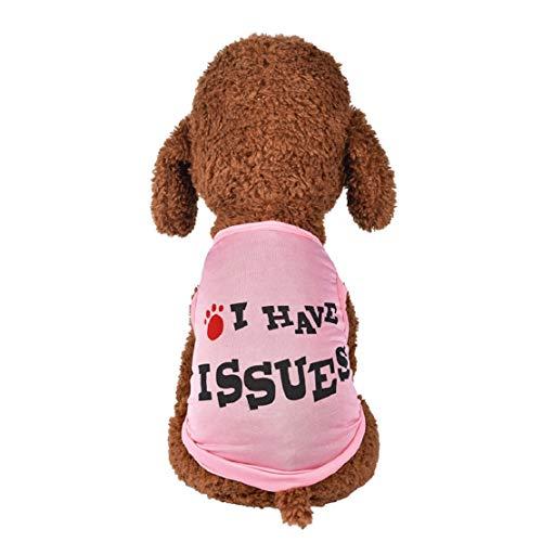Hundemantel Haustier Mantel Hund Kleider Mantel Kleidung Pullover Haustier Welpen T-Shirt I Have Issue Drucken Basic Tank-Top