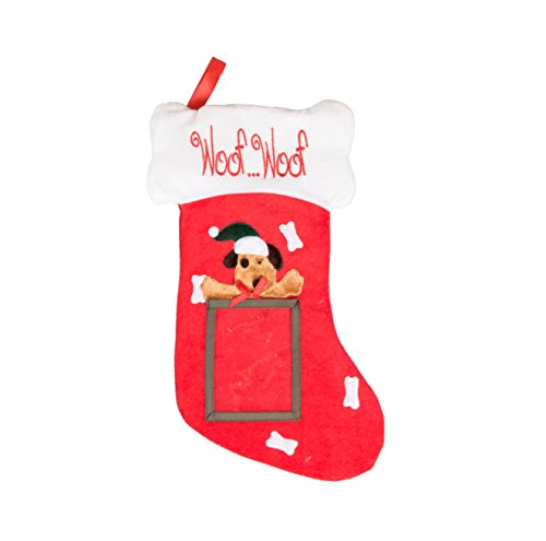 """Clever Creations Puppy Dog Hanging Christmas Stocking 