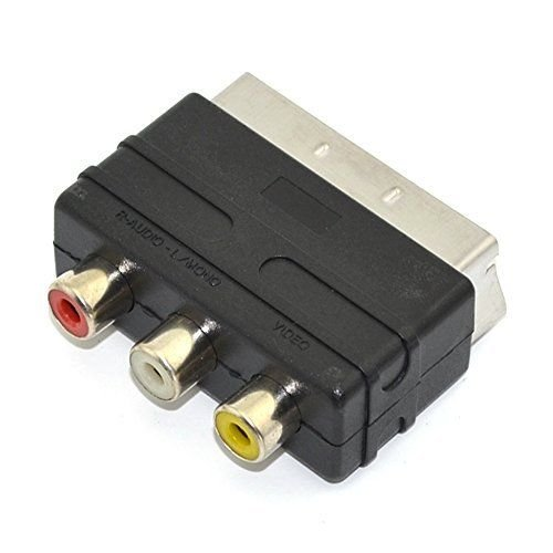 Childhood 3RCA To Scart Adapter AV Kabel Konverter Switcher für PS4 TV DVD