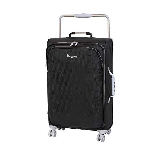 IT Luggage 27.6' World's Lightest 8 Wheel Spinner, Raven With Vapor Blue Trim