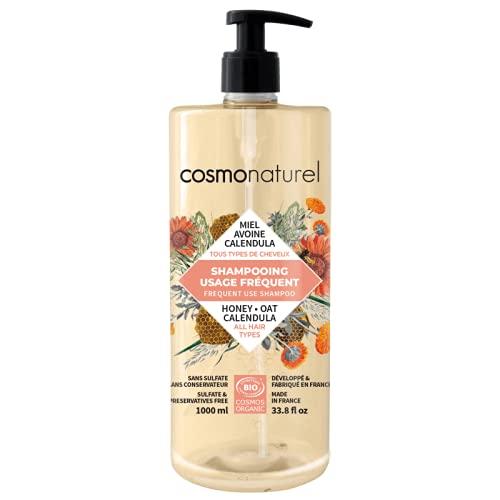 Cosmo Naturel - Shampooing Usages Fréquents Bio Miel, Avoine - 1 litre