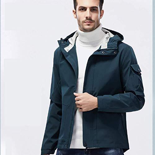 Hcxbb-10 Winddichte Jacket-Ski Jacket-Grote Maat Lente En Herfst Winddichte Jas Mannen En Vrouwen Ski Suit Plus Fluwelen Gewatteerde Katoenen Jas Outdoor Softshell Jas Multi-Pockets Winterjassen-Blauw