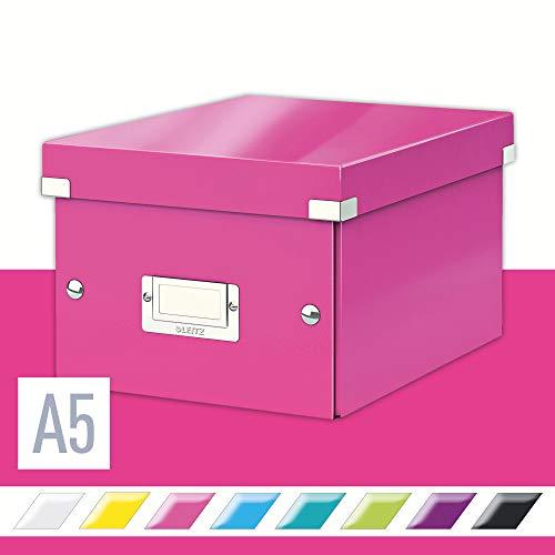 Leitz, Kleine Aufbewahrungs- und Transportbox, Pink, Mit Deckel, Für A5, Click & Store, 60430023