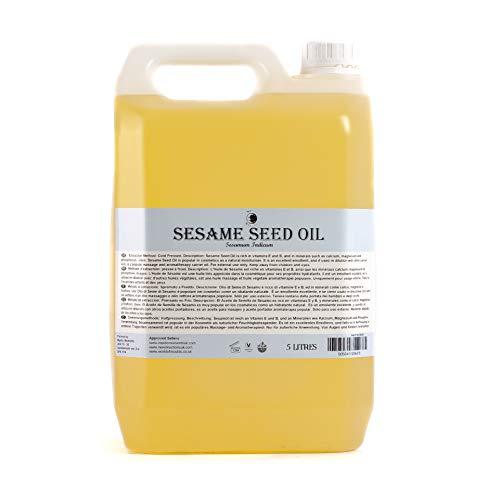 Mystic Moments - Aceite portador de semillas de sésamo, 5litros, 100% puro (el embalaje puede variar)