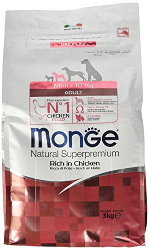 Monge Natural SUPERPREMIUM Mini Pollo Alimenti Cane Secco Premium, Multicolore, Unica