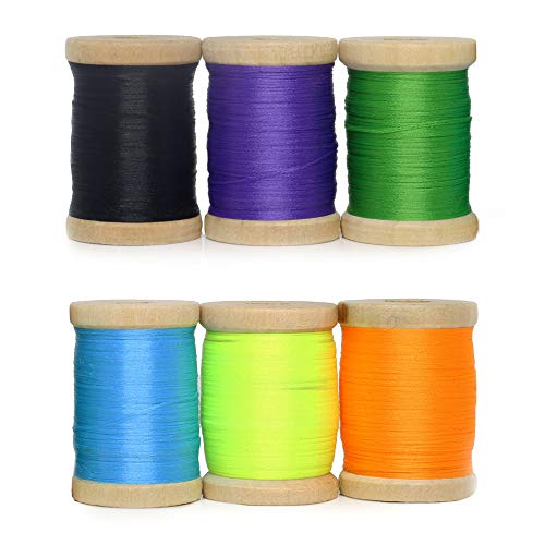 YZD Fly Tying Thread 6/0 Fly Tying Materials Supplies Thread Fly Fishing Fly Tieing Materials kit Flies Making for Wet Dry Nymph Flies Chenille Fly Tying Wire (E1)