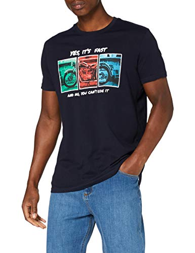 Springfield 3ec Moto-c/12 T-Shirt, Blu (Medium_Blue 12), Small Uomo
