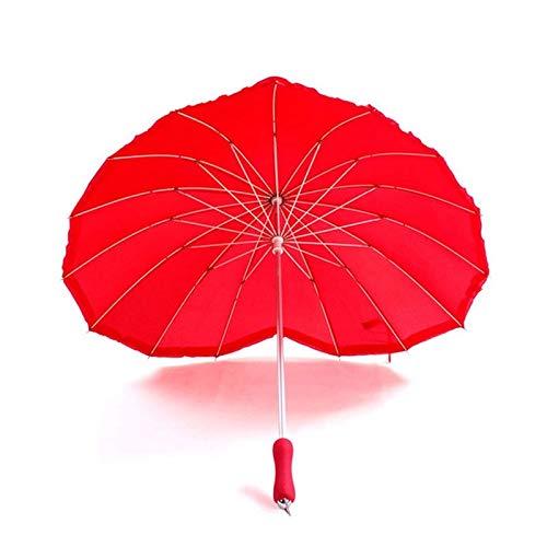 Rot Herzform Regenschirm Pfirsich Herzen Frauen Regenschirme Für Valentinstag Hochzeit Engagement Foto Requisiten Langen Griff Unbrellas
