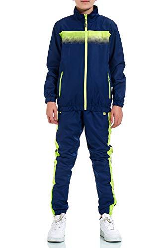XRebel Kinder Junge Jogginganzug Sportanzug Modell W30 (Blau, 122-128(10))