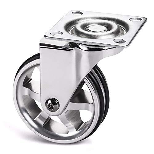 Möbelrolle Bobby Ø 75 mm Aluminiumrad ohne Bremse