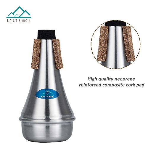 powerful EAST ROCK Lightweight aluminum miniature trumpet silencer with microphone for jazz, classical, beginners and students