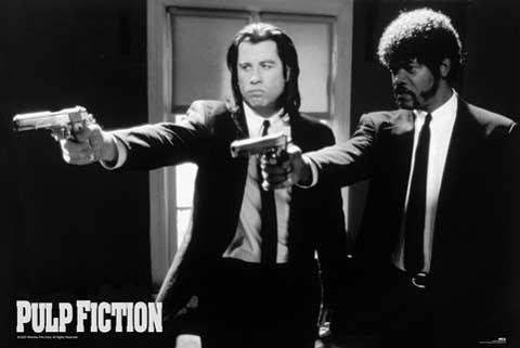 Empire 294005 Pulp Fiction - Guns - FilmMax i-Poster, Druck, Kino Movie Quentin Tarantino Uma Thurman John Travolta, 91.5 x 61 cm
