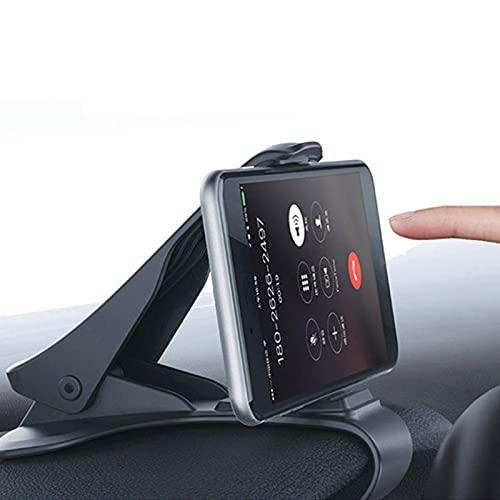 Soporte de teléfono de coche HUD 360 grados GPS Navegación salpicadero Soporte de teléfono universal para cuna de coche de 3 a 6,5 pulgadas compatible con 12/para XSM/para 8