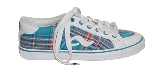 Adio Skateboard Schuhe Daily Girls White/Light Blue, Schuhgrösse:37.5
