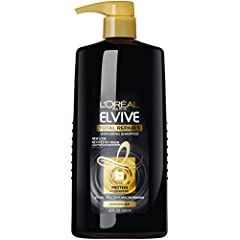 SHAMPOO FOR DAMAGED HAIR: The L'Oréal Paris Total Repair 5 shampoo for damaged hair helps to reduce breakage while also repairing the hair for easier detangling REVIVE AND FORTIFY WITH TOTAL REPAIR 5: Our rich reviving formula with 20% conditioning s...