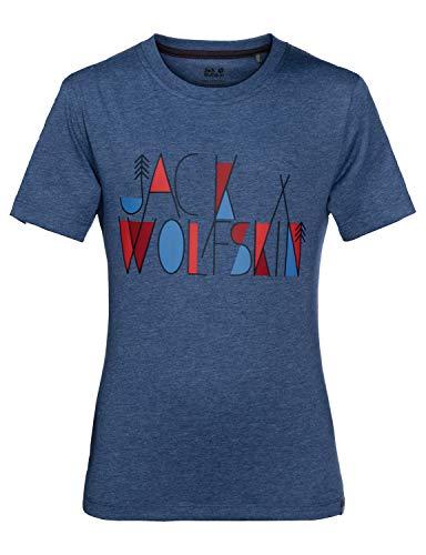 Jack Wolfskin Jungen T-Shirt Brand, Ocean Wave, 164, 1607241-1588164