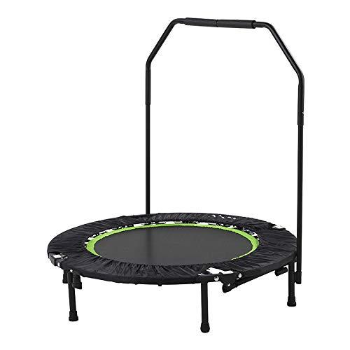 Tunturi Trampolino Fitness Pieghevole e Portatile da 104cm con barra di stabilità   Tappeto elastico fitness   Rebounder fitness   per Allenamento Aerobica Palestra